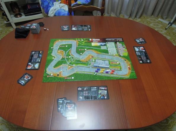 Setup di una partita a quattro giocatori a livello base