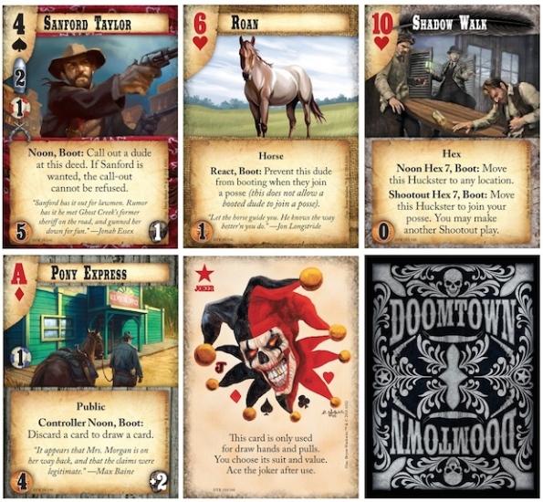 Esempio di alcune carte di Doomtown Reloaded preso da BGG