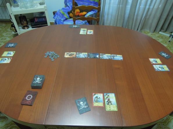 Setup di una partita per quattro giocatori