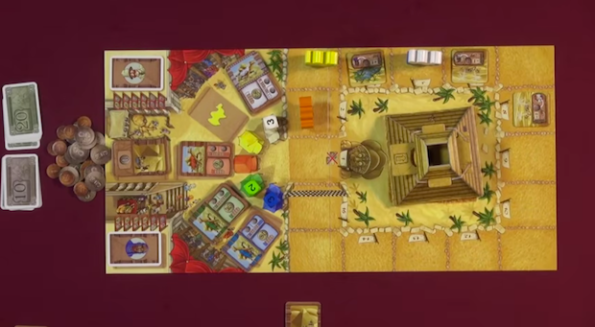 Una fase di gioco di Camel Up durante Game Night