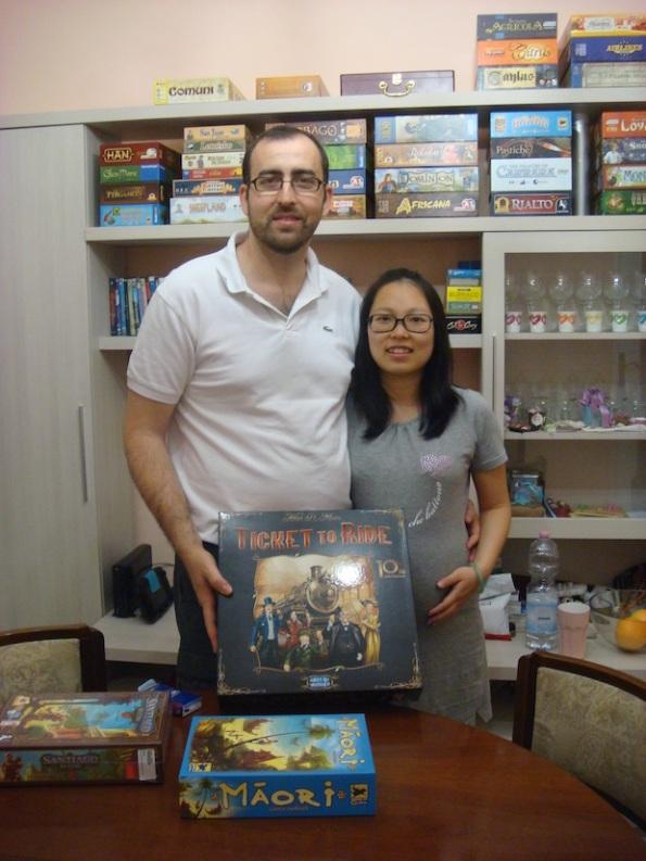 Francesco, Huachong, ludoteca e giocatrice in arrivo :-)