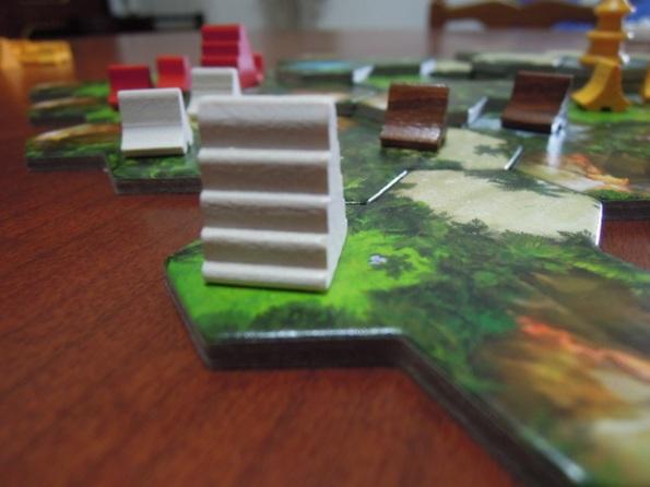 I templi sono una parte fondamentale per vincere una partita di Taluva