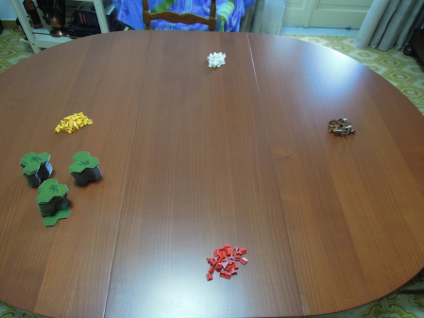 Setup per una parttia a quattro giocatori