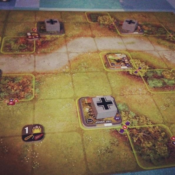 Una fase di gioco a Heroes of Normandie