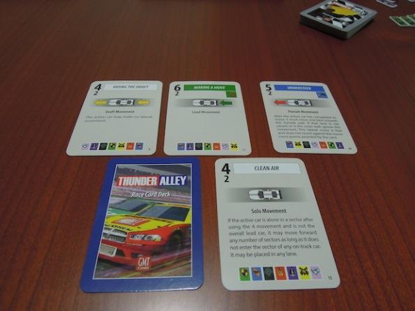 Le carte azione di Thunder Alley