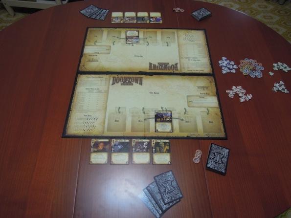 Setup di una partita a due giocatori