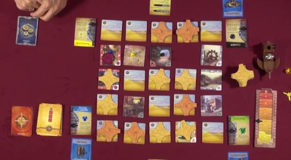Una fase di gioco a Forbidden Desert