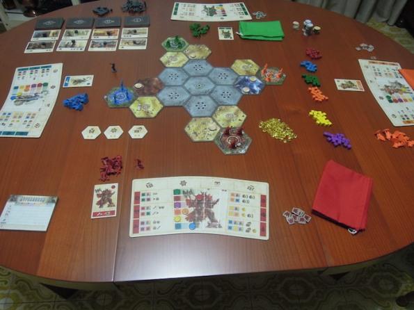 Setup di una partita a quattro giocatori
