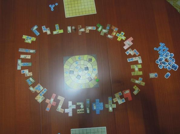 Il setup di una partita a Patchwork