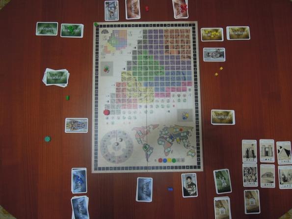 Setup per una partita a quattro persone con verde ritardatario