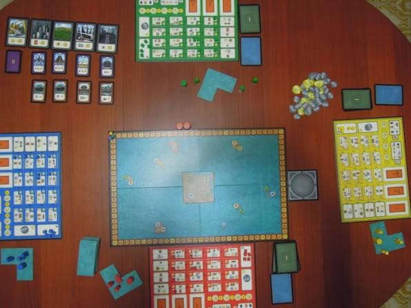 Setup per una partita a quattro giocatori