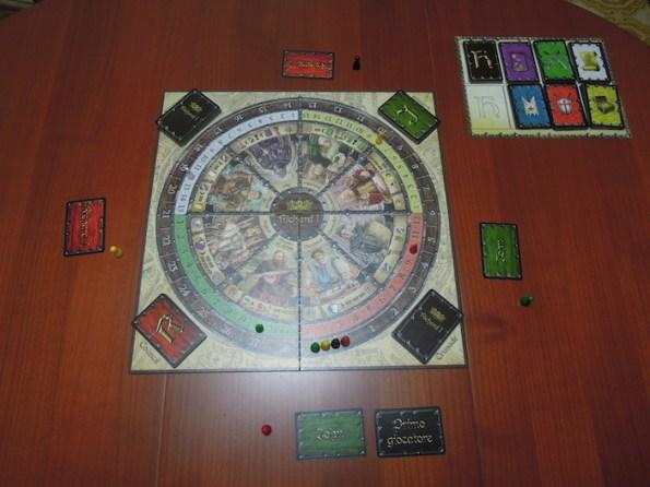 Setup di una partita a quattro giocatori di Richard I