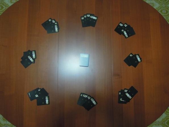 Setup di una partita ad otto giocatori