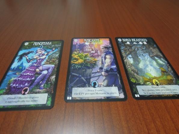 Alcuni delle carte di Dark Tales